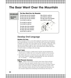 The Bear Went Over the Mountain... Directional Words