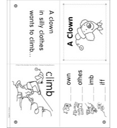 Phonics Story: A Clown (Initial consonant blend cl) Phonics Mini-Book