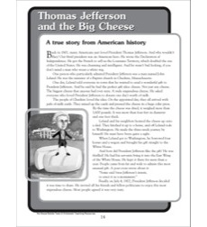 Thomas Jefferson and the Big Cheese: Nonfiction Passage and Short Test