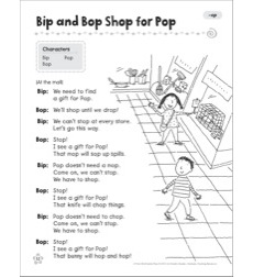 Bip and Bop Shop for Pop (-op): Word Family Play