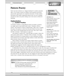 Pattern Poetry: Better Than Book Reports