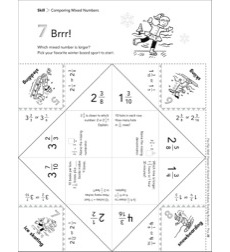 Brrr! (Comparing Mixed Numbers): Fun-Flap Hands-On Math Manipulative
