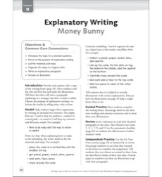 Money Bunny (Explanatory): Grade 4 Common Core Writing Lesson
